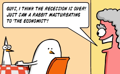 GREAT NEWS, GUYS!!! The stock market crisis is over! Just saw a rabbit masturbating to