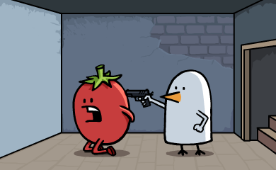 I'm gonna be sick. Dude, it's just ketchup, i swear!