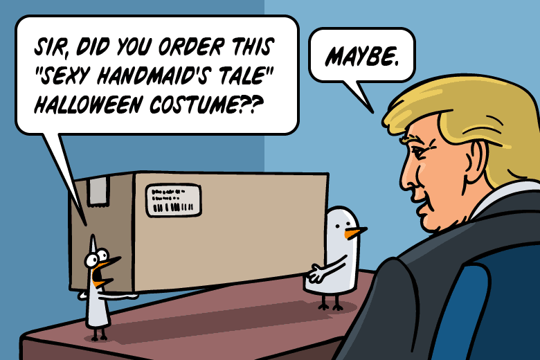 Sir, did you order a Sexy Handmaid's Tale Halloween Costume?