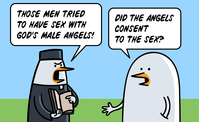 Those men tried to have sex with God's male angels! - Did the angels consent to the sex?