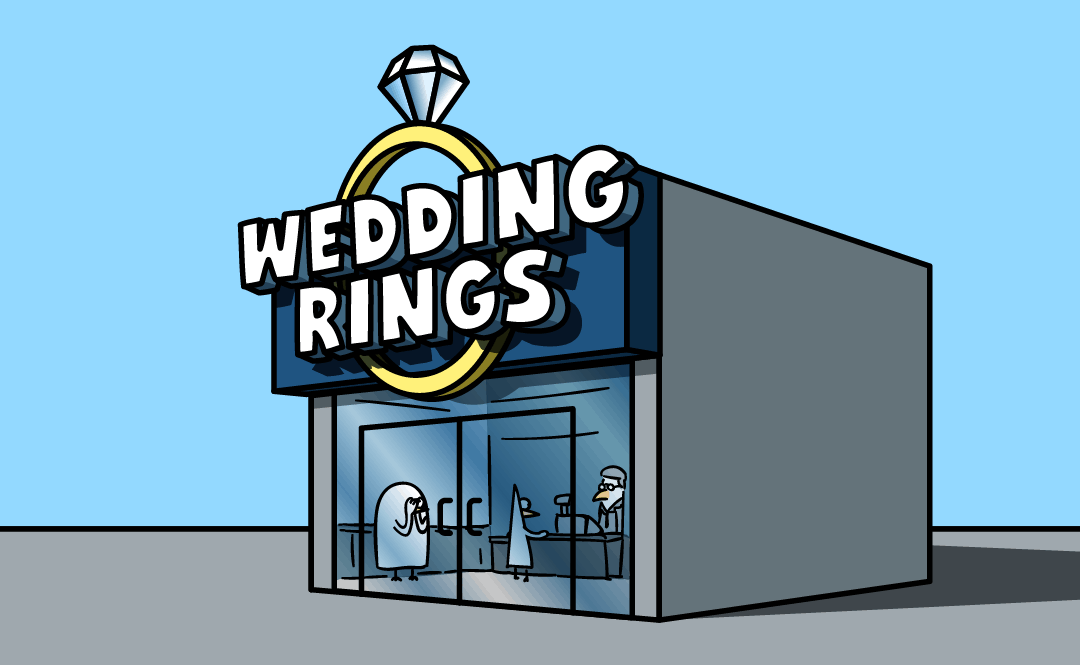 A wedding ring store.