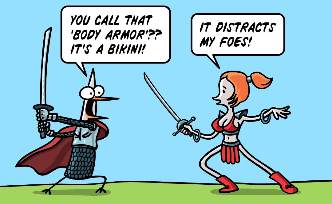 Skimpy armor