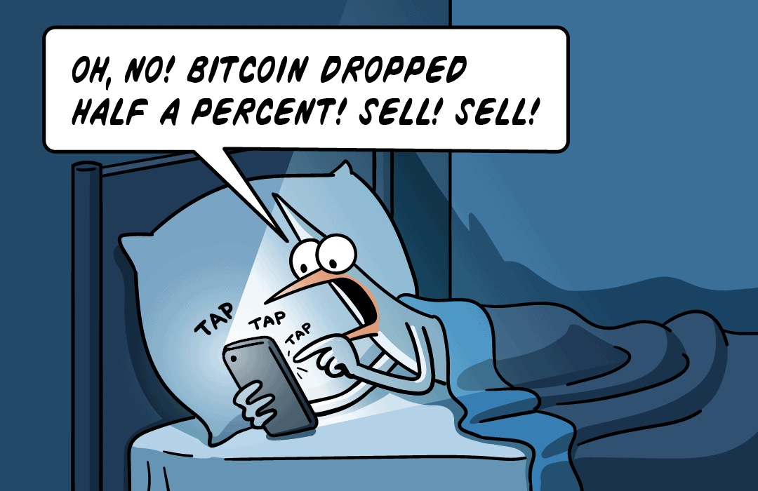 Oh no! Bitcoin dropped half a percent. Sell! Sell!