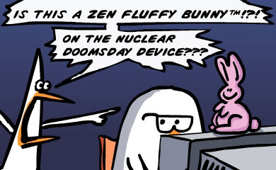 Is this a zen fluffy bunny!?! On The nuclear doomsday device???