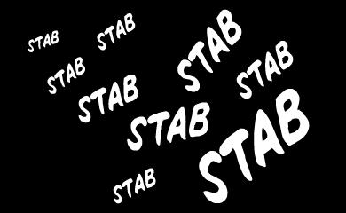Stab stab stab